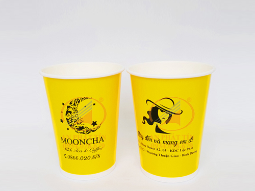 Ly giấy 14oz Mooncha